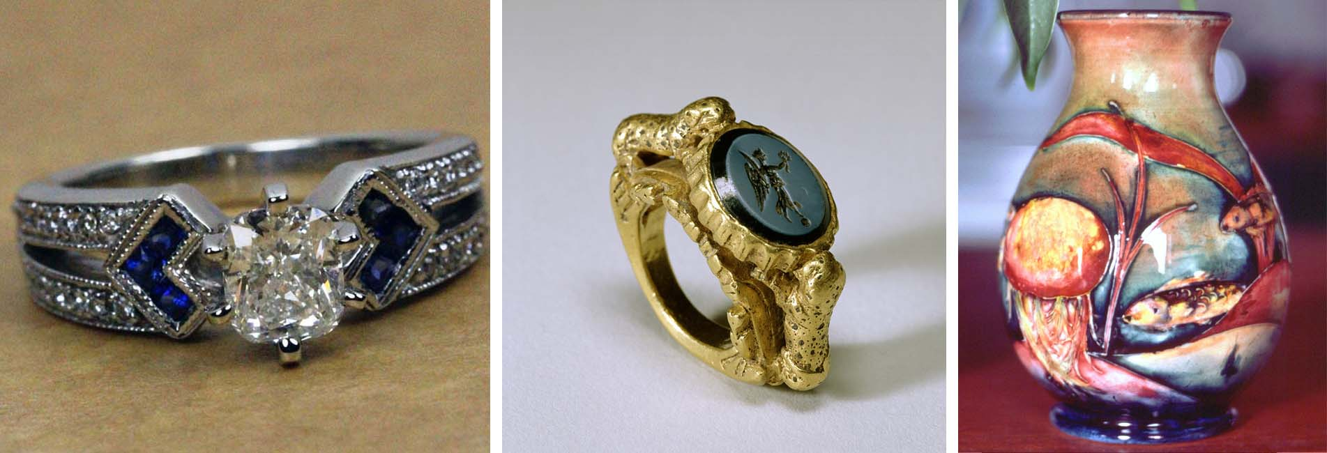 Antique Rings Maitland, Antique Jewellery Newcastle, Antiques Morpeth, Moorcroft Lake Macquarie, Marcasite Pokolbin